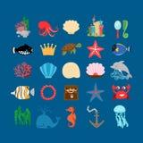 Underwater life and ocean animals Stock Photos