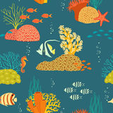 Underwater life pattern Stock Images
