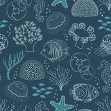 Underwater life pattern Stock Photo