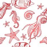 Underwater Life Pattern Stock Photo