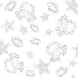 Underwater Life Seamless Pattern Royalty Free Stock Photography