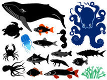 Underwater life royalty free illustration