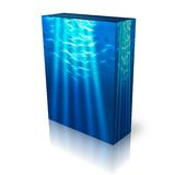 Underwater light beams box template Royalty Free Stock Photography