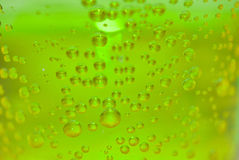Underwater light and flowing bubbles. Abstract background Stock Photo