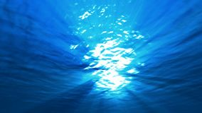 Sea underwater light. Underwater light,iridescent rays of the sun in the depths of the sea stock footage