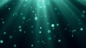 Underwater light rays and bubbles animation background - new quality nature scenic view cool video footage. Underwater lights and bubbles animation background stock video footage