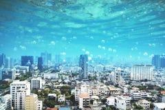 Free Underwater Megapolis City Royalty Free Stock Photo - 121391295