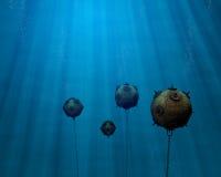 Underwater Mine Field Stock Image