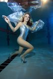Underwater model Royalty Free Stock Photography