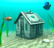 Underwater Mortgage Royalty Free Stock Images