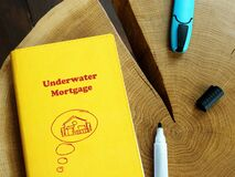 Underwater Mortgage sign on the piece of paper