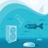Underwater music Stock Photos