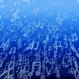 Underwater music bubbles. 3D illustration of musical note bubbles rising toward ocean surface Royalty Free Stock Image