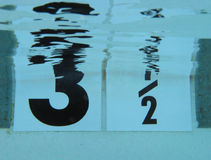 Underwater Numbers Royalty Free Stock Photos