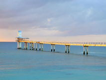 Underwater Observatory. Is located in Busena Marine Park near Busena Cape at Okinawa Stock Image