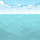 Underwater ocean background royalty free illustration