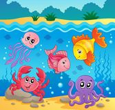 Underwater ocean fauna theme 5. Eps10 vector illustration Stock Photos