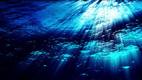 Underwater ocean waves with light rays - Water FX0325 HD stock video footage