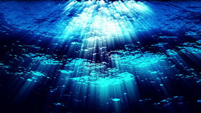 Underwater ocean waves ripple and flow - Water FX0324 HD. Water FX0324: Underwater ocean waves ripple and flow with light rays (Loop stock video footage