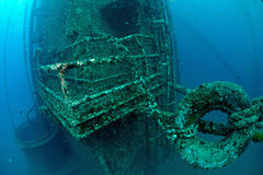Underwater oil rig Stock Photography