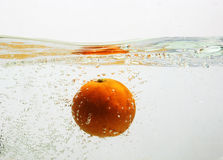 Underwater oranges Stock Photo