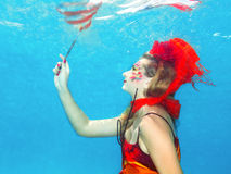 Underwater painting Royalty Free Stock Photo