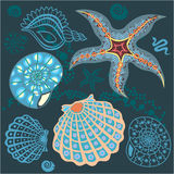 Underwater paradise blue pattern Stock Photo