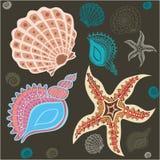 Underwater paradise pattern Royalty Free Stock Photos