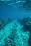 Underwater path on the ocean floor Pacific ocean Stock Photos