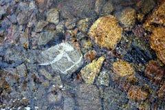 Underwater pebbles wallpaper. Royalty Free Stock Photo