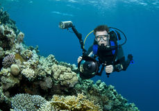 Underwater photographer Stock Images