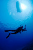 Underwater photographer Royalty Free Stock Images