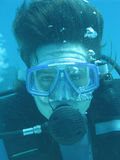 Underwater photographing Stock Image
