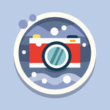 Underwater photography, camera. Travel, flat style Stock Image