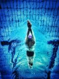 Underwater Photography of Swimmer Stock Photography