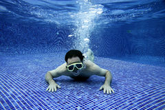 Underwater picture. Of a man swimming Royalty Free Stock Image