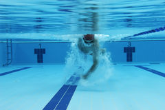 Underwater picture. Of a swimmer Royalty Free Stock Image