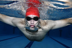 Underwater picture. Of a swimmer Stock Photos