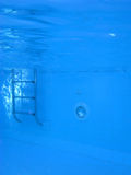 Underwater picture of a swimmingpool. Concept of isolation, fear and other feelings Stock Photos