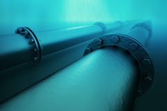 Underwater pipeline. Royalty Free Stock Photos