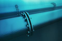 Underwater pipeline. Royalty Free Stock Image