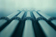 Underwater pipeline. Stock Photo
