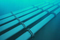 Underwater pipeline. Royalty Free Stock Photo