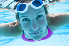 Underwater in pool Royalty Free Stock Images