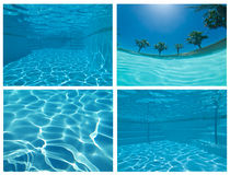 Underwater Pool Collage Royalty Free Stock Photography