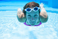 Underwater in pool Royalty Free Stock Photos