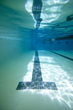Underwater pool shot Stock Images