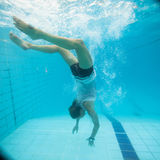 Underwater in a pool Royalty Free Stock Photography