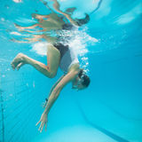 Underwater in a pool Stock Images
