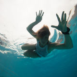 Underwater in a pool Stock Image